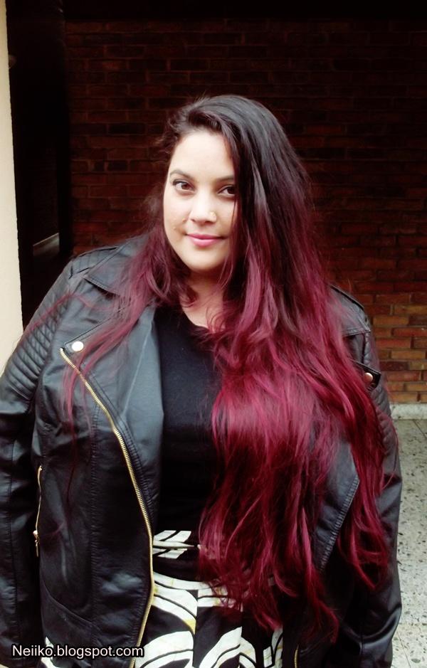 comme la dernire fois jai dcolor une partie de mes cheveux pendant 1015min jusquau orange pour que la couleur prenne bien cf dernier article - Coloration Cheveux Bordeau
