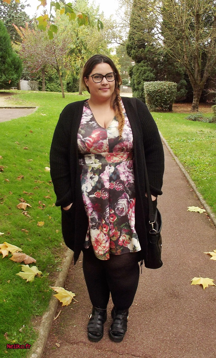 plus size dress and midi cardigan