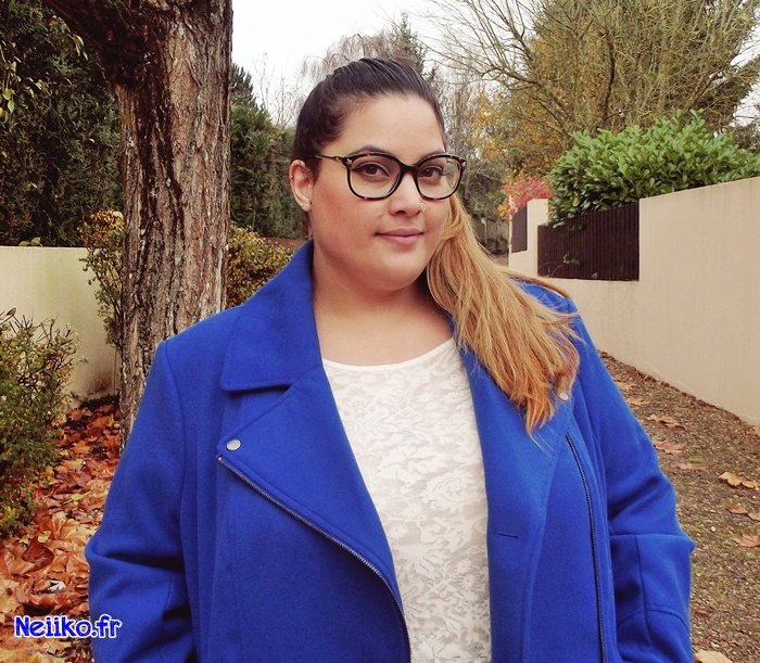 manteau Kiabi grande taille bleu