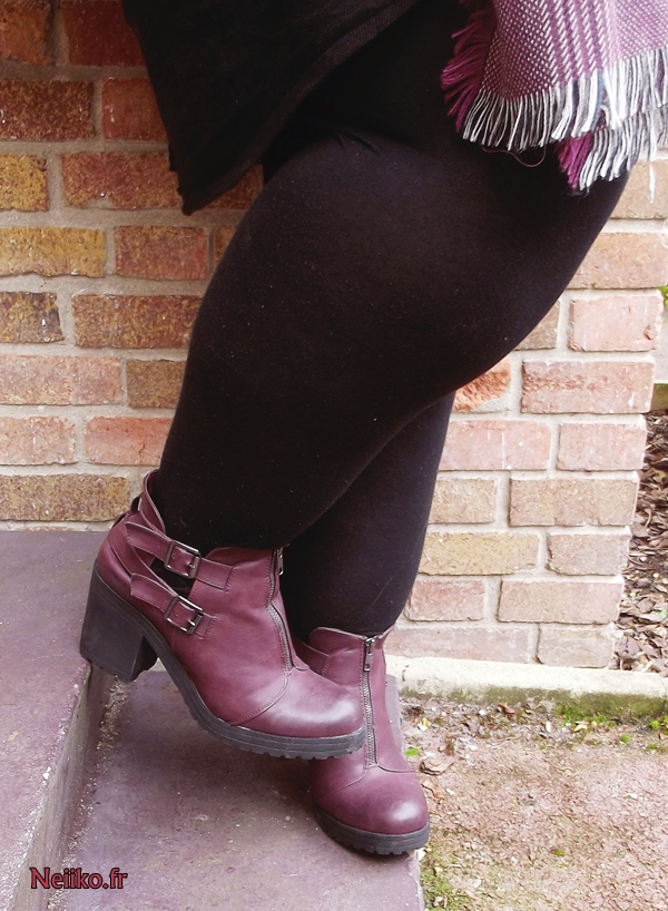 plus size burgundy cut out boots