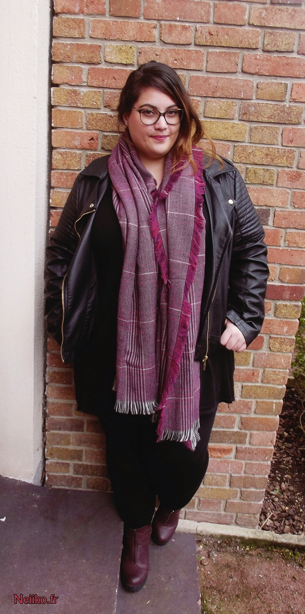 plaid scarf plus size