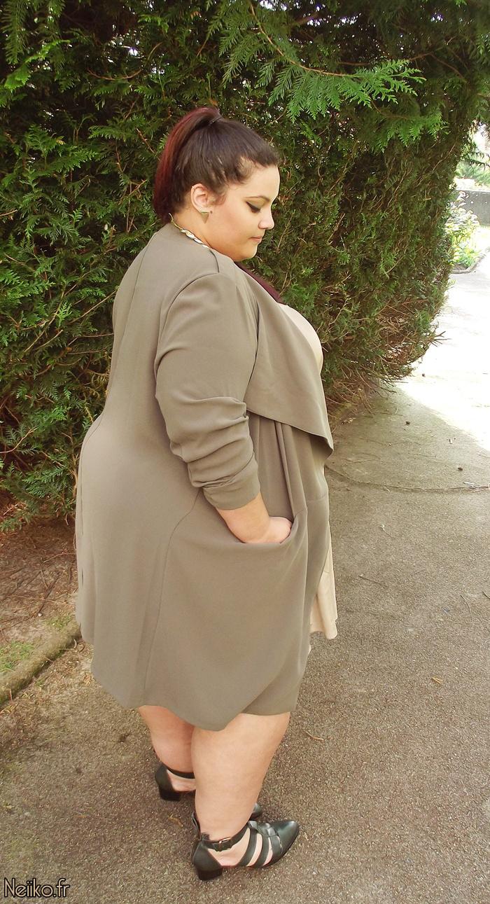 plus size beige khaki outfit