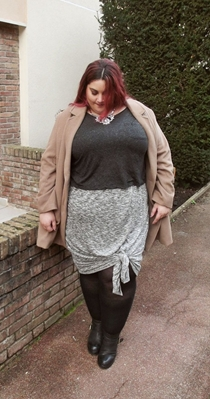 drey and taupe plus size