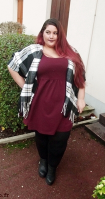 plus size burgundy