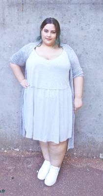 plus size grey