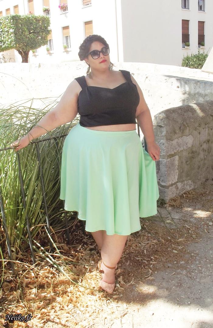 circle skirt grande taille