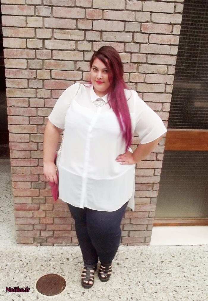 chemise grande taille transparente