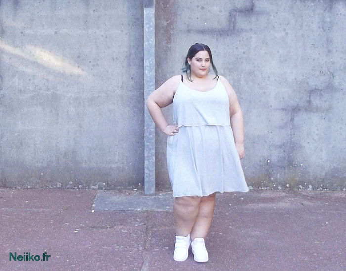 plus size grey minimalist